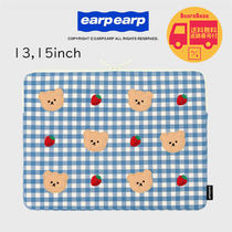 earpearp Dot strawberry check-notebook pouch BBH1226 追跡付