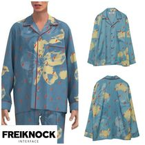 FREIKNOCK(フライノック) ルームウェア・パジャマ 人気新作★FREIKNOCK★BOWIE PAJAMA SHIRT(SKY BLUE)