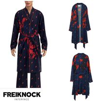 FREIKNOCK(フライノック) ルームウェア・パジャマ 人気新作★FREIKNOCK★BOWIE PAJAMA ROBE(NAVY)