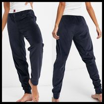 Tommy Hilfiger soft velour jogger in navy