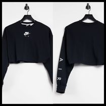 Nike Air cropped sweatshirt in black