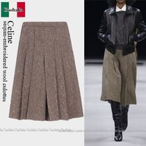 Celine sequin-embroidered wool culottes