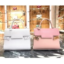 DELVAUX(デルボー) ハンドバッグ 【DELVAUX】Tempete PM☆ストラップ付きハンドバッグ◆追跡付