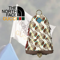 Gucci x THE NORTH FACE ロゴパターン バックパック ホワイト