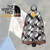 Gucci x THE NORTH FACE ロゴパターン バックパック ブラック