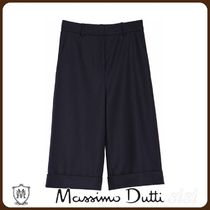 MassimoDutti♪NAVY FLANNEL TROUSERS