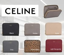 【CELINE】COMPACT ZIPPED WALLET IN GRAINED CALFSKIN