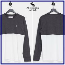 ☆Abercrombie & Fitch☆カラーブロック ロゴ 長袖Tシャツ