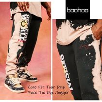 関税送料込★boohoo★Core Fit Tour Drip Face Tie Dye Jogger
