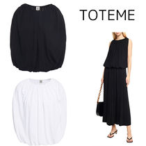 【TOTEME】Maida gathered stretch-knit top ニットトップス