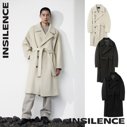 [INSILENCE] Belted Oversize Coat★ウールコート