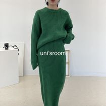 uni's room■リブニットスカートセットアップ ST-AW21-02GN