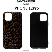 パリ限定[Saint Laurent] IPHONE 12PRO CASESILICONE レオパード