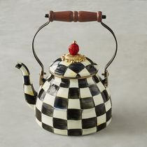 【国内発送】MacKenzie-Childs★Courtly Check Tea Kettle