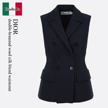 Dior double-breasted wool silk blend waistcoat