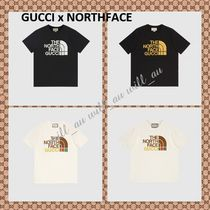 AUS発EMS配送★GUCCI x NORTH FACEコラボ★Tシャツ