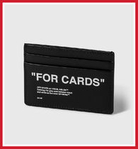 """OFF-WHITE """"FOR CARD"""" カードケース ★関税送料込★"""