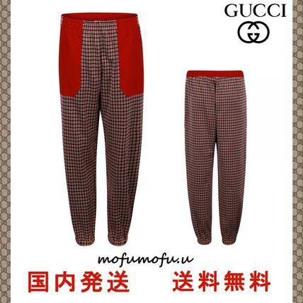 SALE★GUCCI★Houndstooth プリントパンツ 大人もOK
