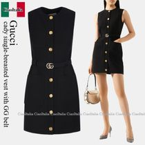 Gucci cady single-breasted vest with GG belt
