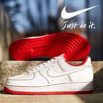 "国内発【NIKE】Air Force 1 '07 ""WHITE/WHITE-UNIVERSITY RED"""