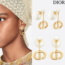 DIOR TRIBALES EARRINGS WITH RESIN PEARLS