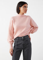 & Other Stories新作☆Cropped Mock Neck Sweater(light pink)
