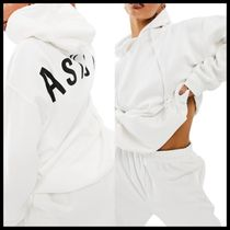 ASYOU hoodie with large back logo in white