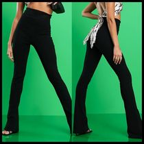 ASYOU super high waisted trousers in black