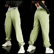 ASYOU branded washed jogger in green