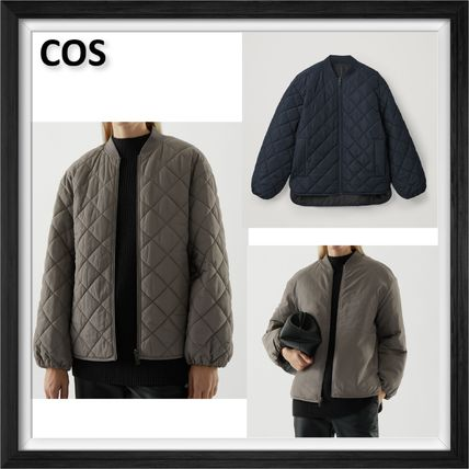 【COS】2カラー*RECYCLED POLYESTER REVERSIBLE QUILTED JACKET