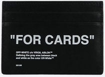 OFF WHITE★ss21/QUOTE SMOOTH LEATHER CARD CASE