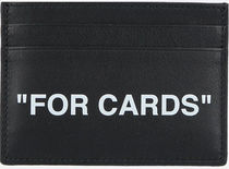 OFF WHITE●aw20 QUOTE SMOOTH LEATHER CARD CASE