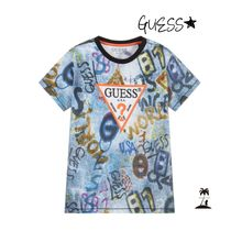 Guess(ゲス) キッズ用トップス ★GUESS★Boys グラフィティロゴTシャツ/Blue