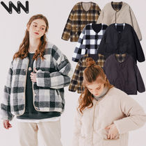 ★WV PROJECT★Checky reversible no-collar Jacket CJOT7430