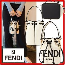 ☆正規品☆【FENDI】☆MON TRESOR CANVAS BUCKET BA.G☆関税込☆