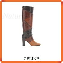 Celine Patchwork High Leather Boots