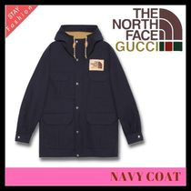 歴史的コラボ入手困難!GUCCI×THE NORTH FACE NAVY COAT