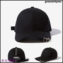 [GROOVE RHYME] ◆RING STYLE BALL CAP (BLACK)◆