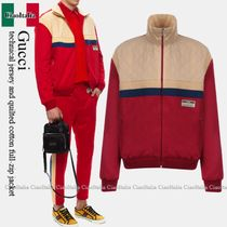 Gucci technical jersey and quilted cotton full-zip jacket