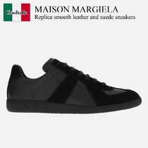 Maison Margiela Replica smooth leather and suede sneakers