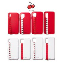 【KIRSH】21SS新作★ CHERRY STRAP IPHONE CASE red/white