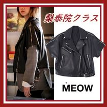 【MEOW BY MINA】 SHORT SLEEVE RIDER JAKET イソ ライダース
