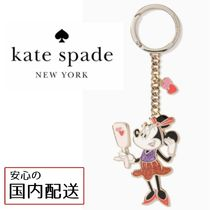 kate spade☆key fobs minnie metal keyfob ミニーキーホルダー