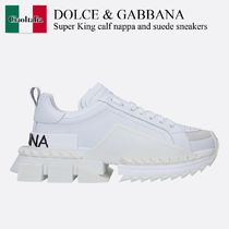Dolce & Gabbana Super King calf nappa and suede sneakers