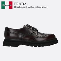 Prada Rois brushed leather oxford shoes