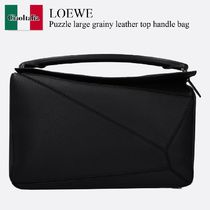 Loewe Puzzle large grainy leather top handle bag
