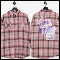 ASOS Missguided oversized check shirt with graphic