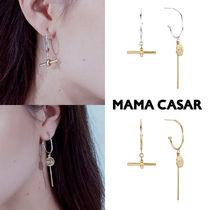 BTSジミン着用★韓国★AVIROD HOOP UNBALANCED SILVER EARRINGS