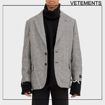 VETEMENTS ヴェトモン Gray Notch Lapel ブレザー