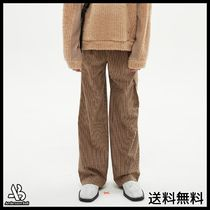 [ANDERSSONBELL] CARGO POCKET WIDE LEGGED CHECK TROUSERS BE